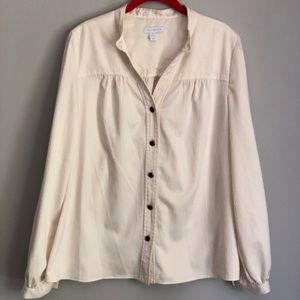 Cream Charter Club Button Down Blouse
